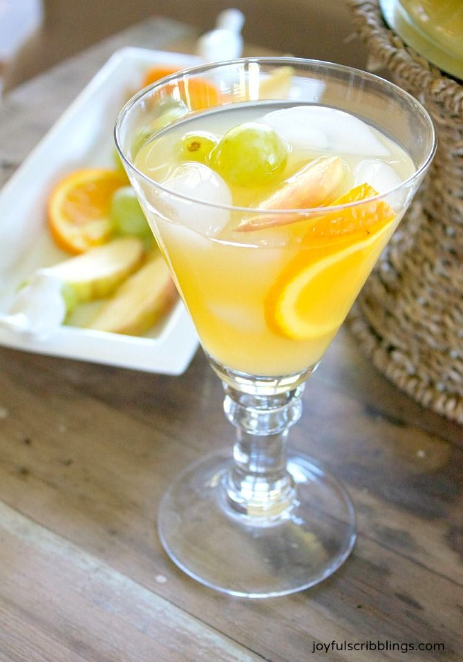 This non-alcoholic white sangria is a refreshing drink option for both ...