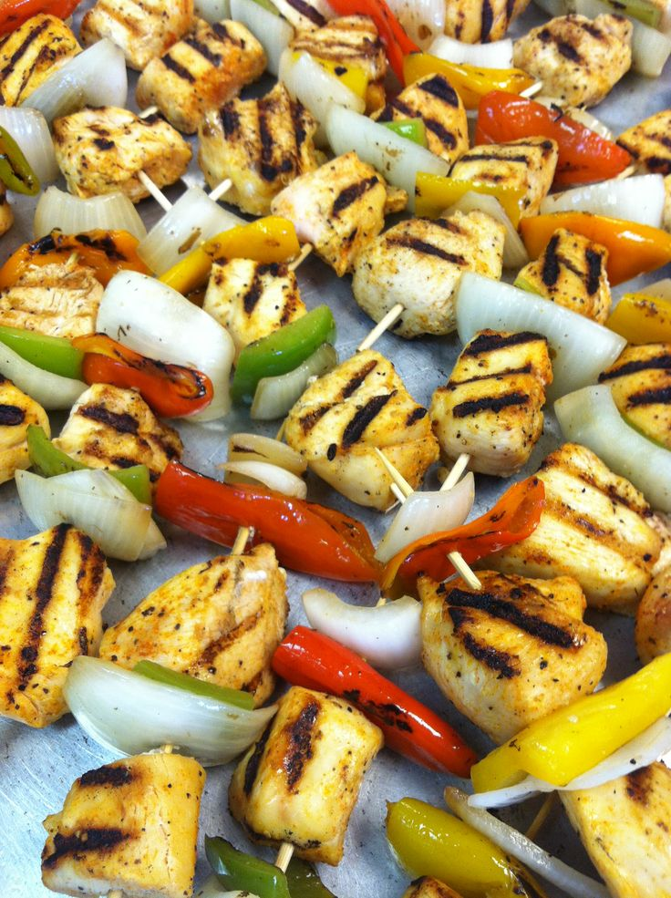 Grilled Chicken Kabobs | All About Catering LV Menu | Pinterest