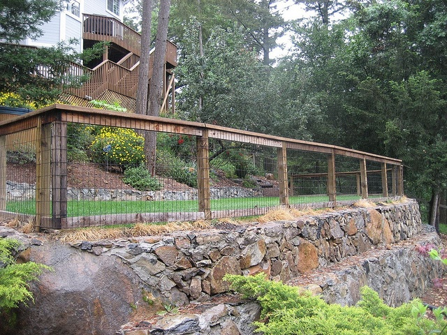 Fence and retaining wall for the home pinterest for Garden wall fence ideas