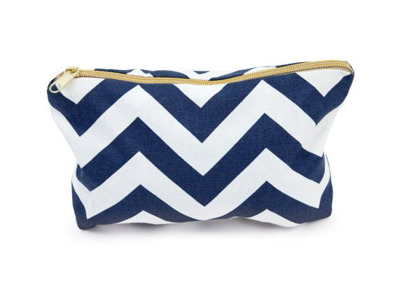 NAVY MAKEUP BAG more colors navy chevron makeup by gertiebaxter, 20 ...