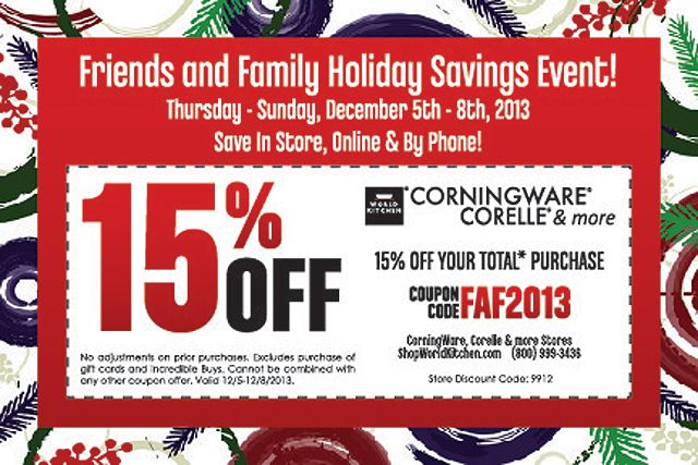 Corelle coupon codes