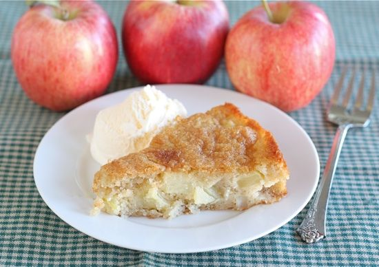 Marie Helene's apple cake - so good! I love that there are 4 kinds of ...