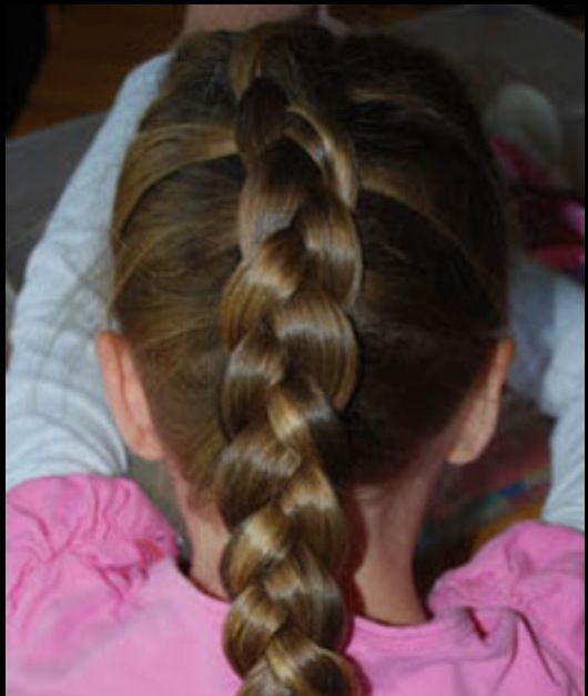 Stick out French braid