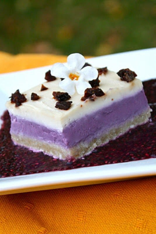 Concord Grape Cream Squares
