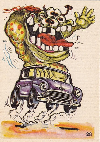 S Gum Cards Monsters In Cars