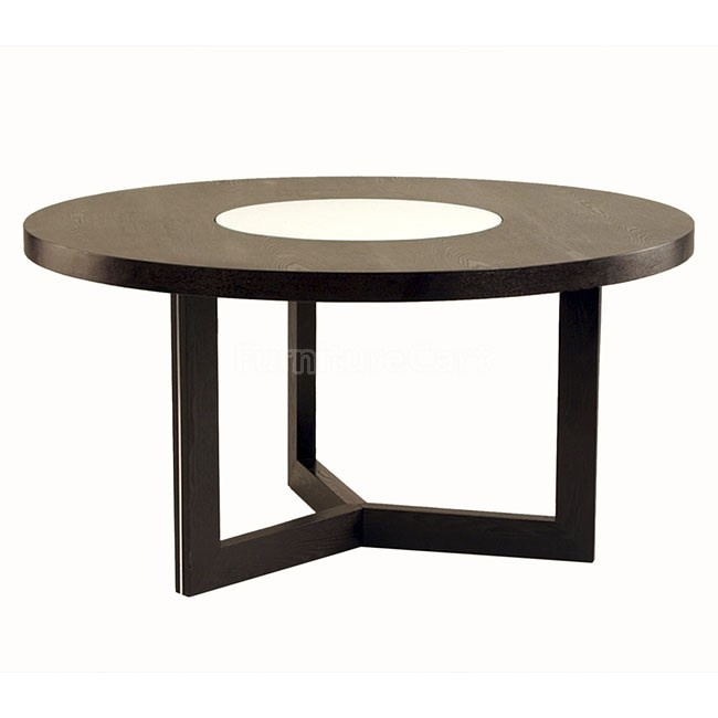 60 Inch Round Dining Table W Lazy Susan Useful Practical Home Ide
