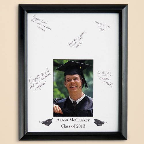 Personalized Graduation Autograph Photo Frame: Personalized Gifts ...: pinterest.com/pin/187884615679040532