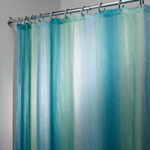 Blue Green Ombre Fabric Shower Curtain By Interdesign