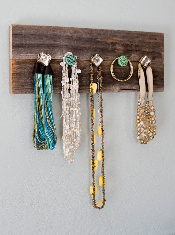 custom beats by dre Barn Wood  Necklace Hanger  Jewelry  Organize  Knobs  Rustic