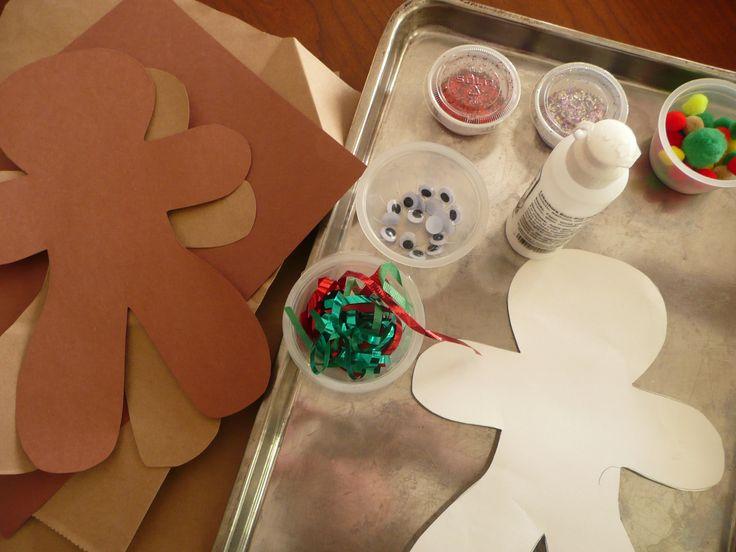 Gingerbread man creative art