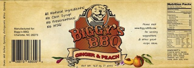 Ginger Peach Barbecue Sauce - Biggy's