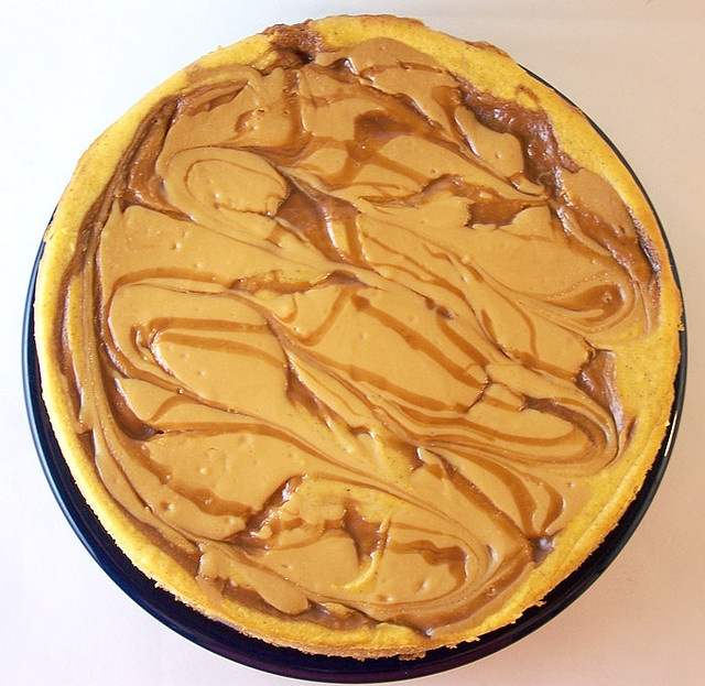 Swirled Caramel and Pumpkin Cheesecake Supreme Recipe