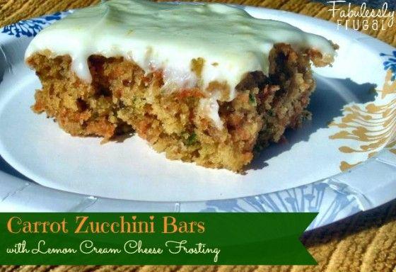 Carrot Zucchini Bars with Lemon Cream Cheese Frosting | Recipe