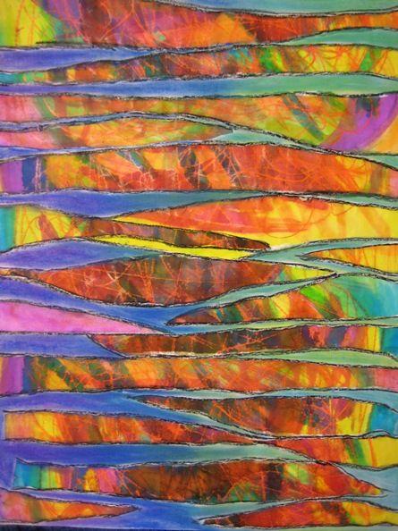 ... IngeN: Kleurrijk weefsel  Ideeën voor kunst-opdrachten  P