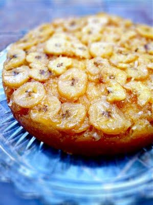 Gooey Banana Coconut Upside Down Cake - It's a beautiful thing.