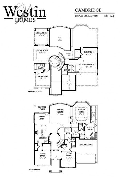 Cambridge floor plan by westin homes the new house for Westin homes floor plans