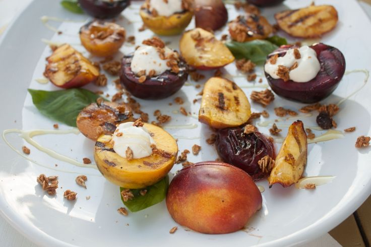 Grilled Stone Fruit via Whit's Amuse Bouche