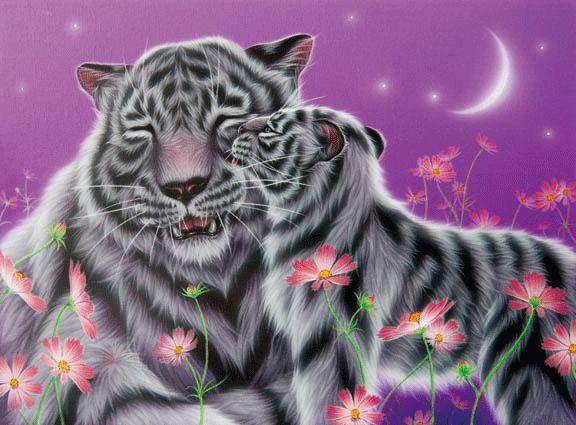Алмазная вышивка бенгальские тигры 26