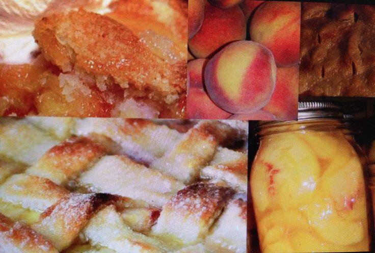 peach and old fashioned peach cobbler aka peach puzzle peach pie peach ...
