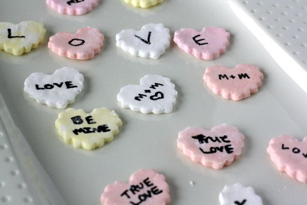 Homemade Conversation Hearts - finally we can make some without ...