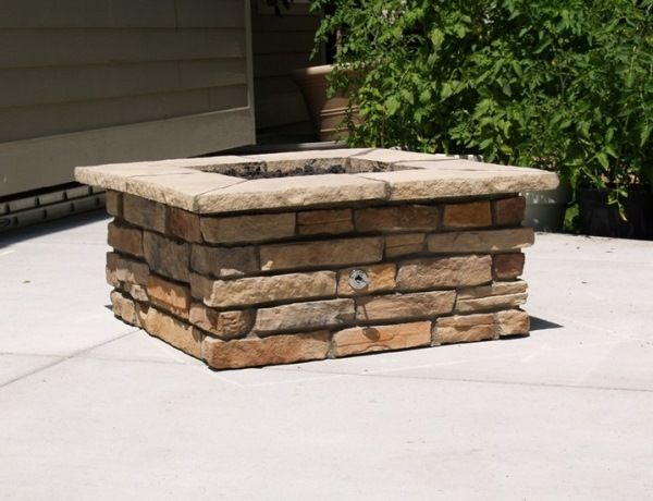 How to build a square fire pit for the home pinterest for How to make a square fire pit