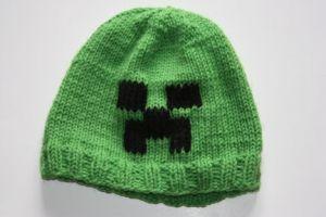Minecraft Knitting Patterns : Knitted minecraft creeper hat Crafts Pinterest