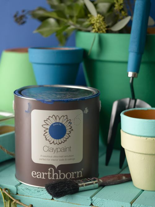 Pictured here is the beautiful Button Tin from earthborn. Other earthborn colours shown are The Lido, Riverbank, Story Book and Fuggles