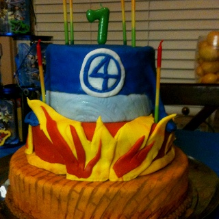 Fantastic 4 cake.