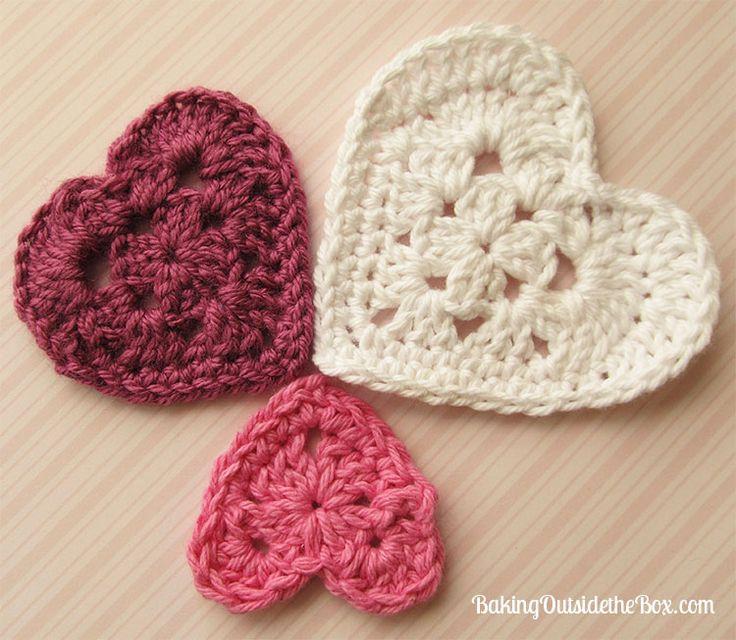 Knit Heart Pattern Easy : Heres My Heart Crochet Patterns in 3 Sizes