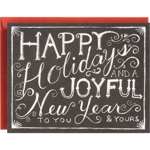 Chalkboard a2 holiday cards christmas ideas pinterest for Chalkboard christmas cards