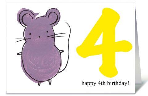 happy 4th birthday ecard