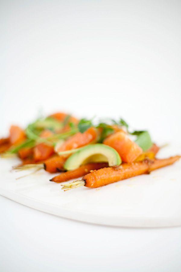 fresh carrot, avocado and orange salad // a thousand threads