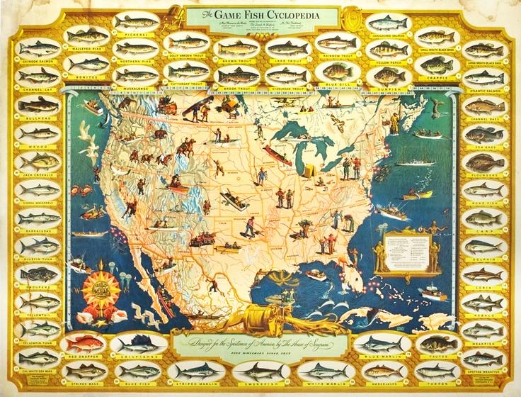 $950!!  Bemis, Ivaldo poster: The Game Fish Cyclopedia
