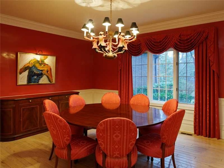 The color red is used to stimulate and is especially for Feng shui dining room art