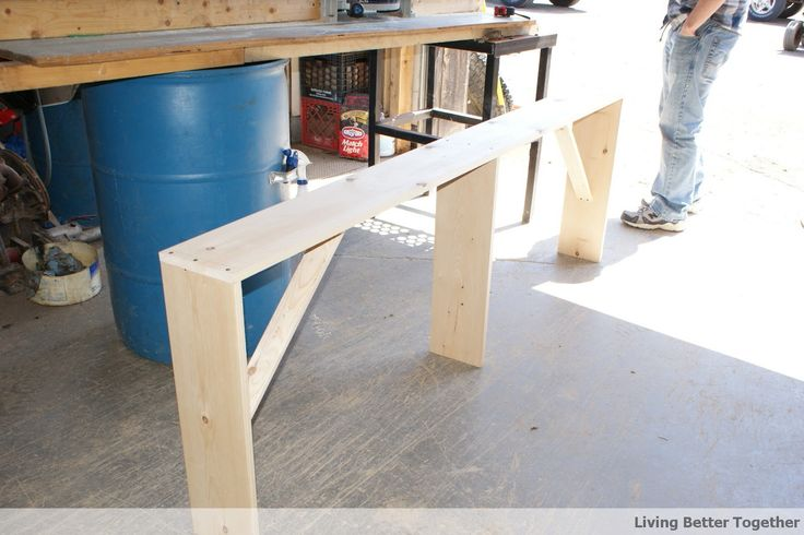 DIY Sofa Table: Tutorial