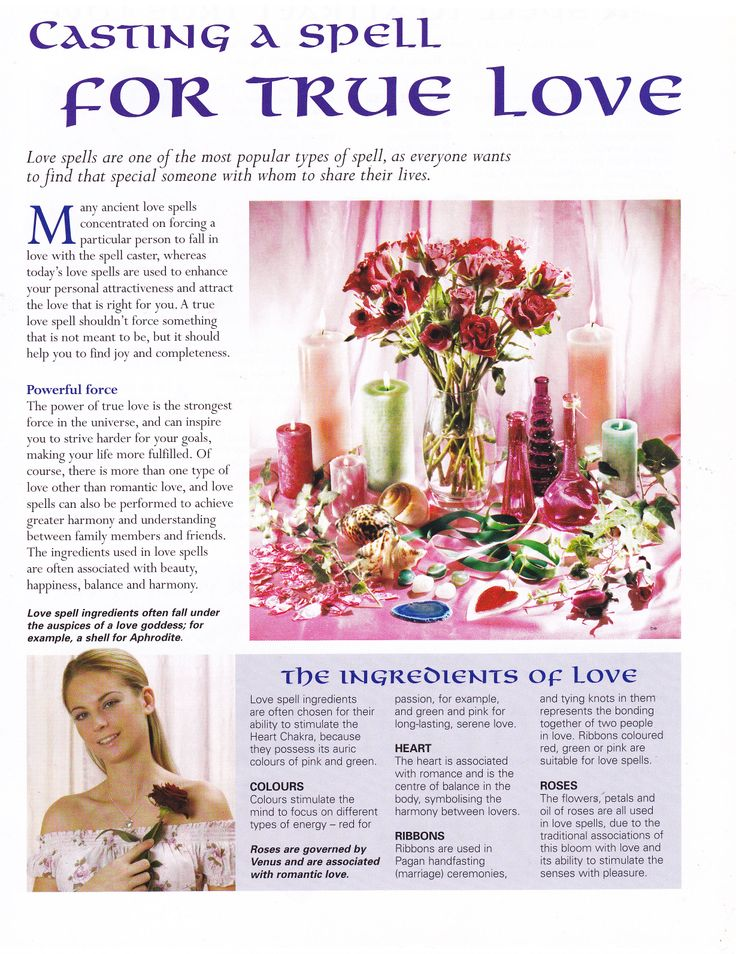 how to cast a true love spell