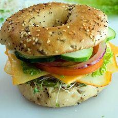 Veggie and Cheese Bagel Sandwich @AnnieK3ll3r