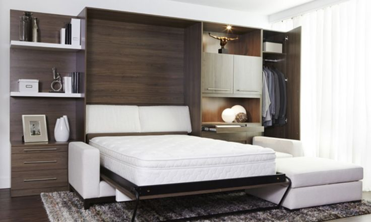 Pull down bed built to fit over a sofa guest bedroom for Alinea chambre a coucher