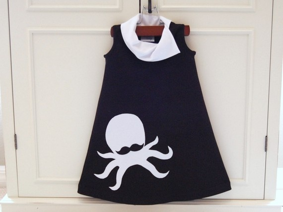 Toddlers Mustache Octopus Dress