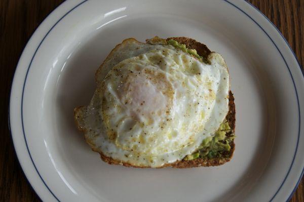Avocado Breakfast Toast from http://college.biggirlssmallkitchen.com ...