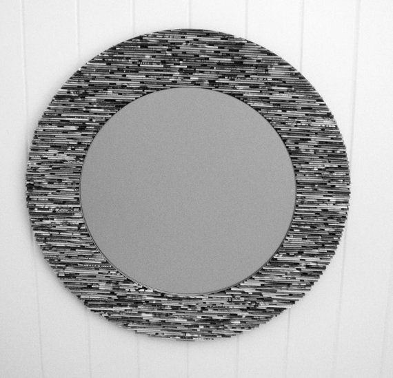 black and white round mirror wall art made by colorstorydesigns, $180 ...