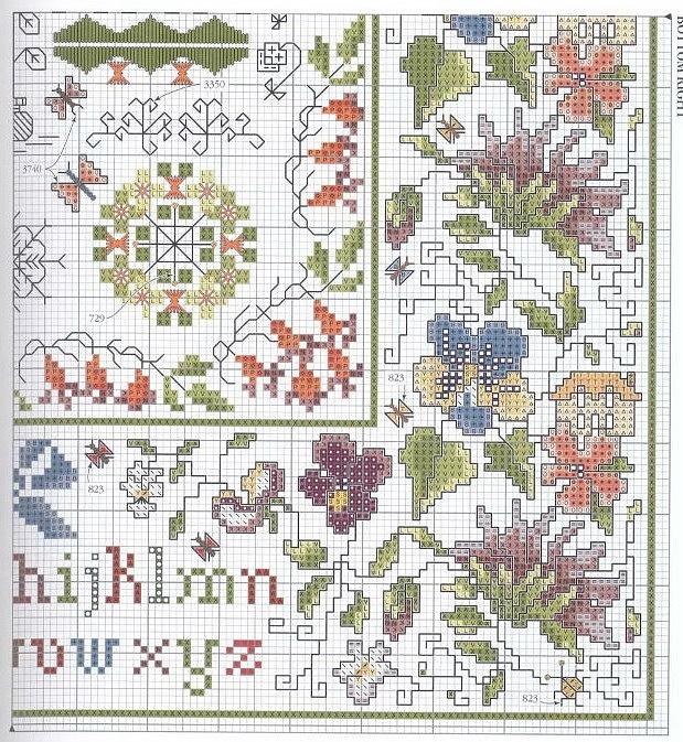 Cross stitch sampler embroidery pinterest