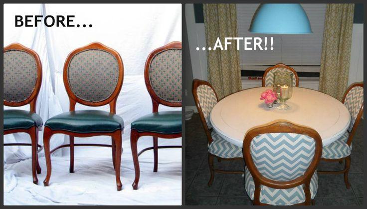 DIY Dining Chair Reupholster
