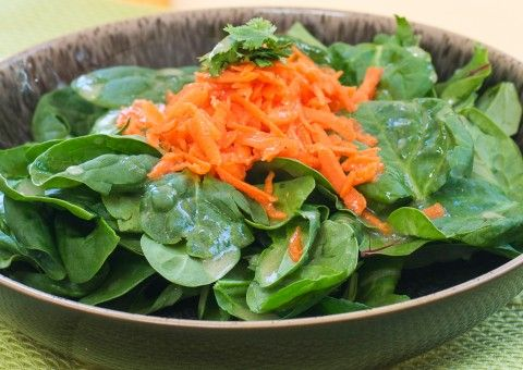 Arugula and Carrot Salad with Cilantro and Maple Ginger Vinaigrette ...