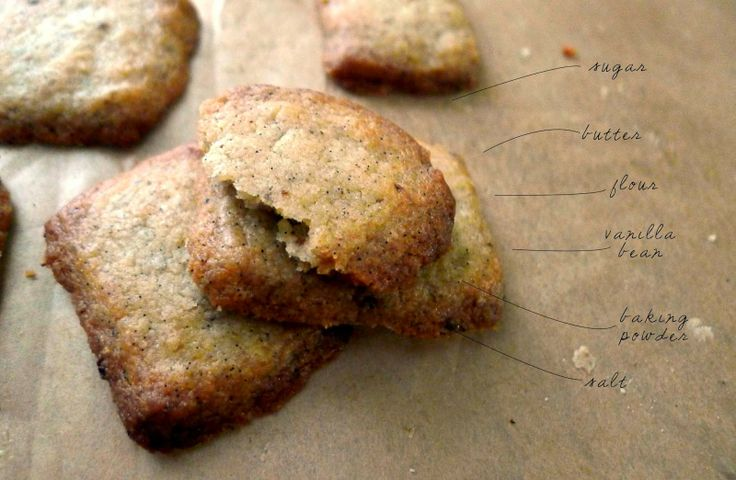 Whole Vanilla Bean Biscuits | cookies | Pinterest