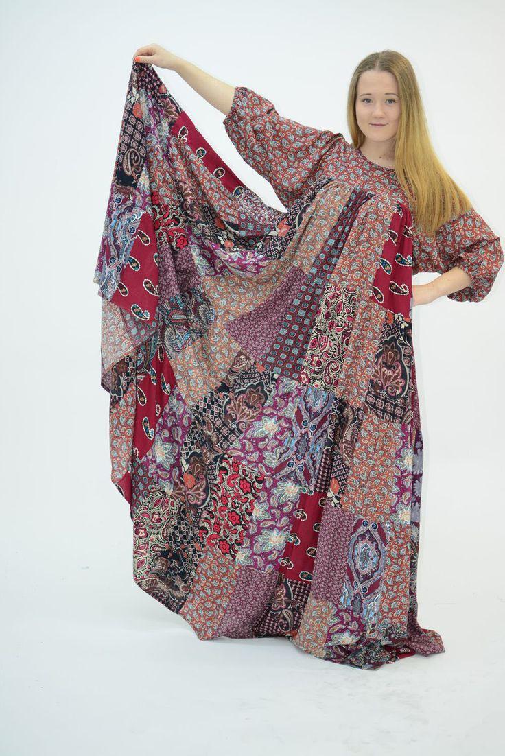 Ярусное платье из штапеля своими руками 1
