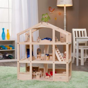 Perfect dollhouse for playroom. Open on both sides, neutral. Want this!