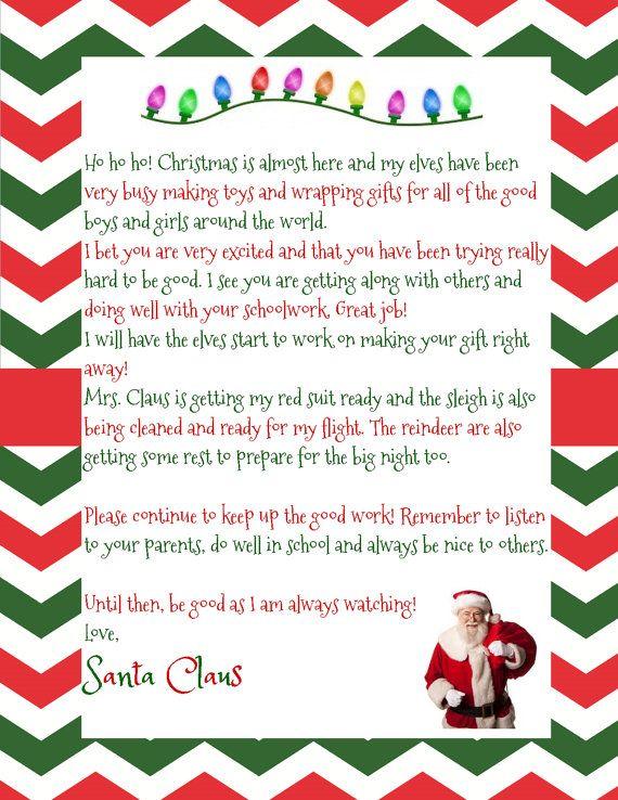 - Christmas Printable Pack - 2 Santa Notes, Reindeer Food Labels ...
