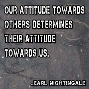 Our attitude towards others determines their attitude towards us  Earl    Quotes About Attitude Towards Others