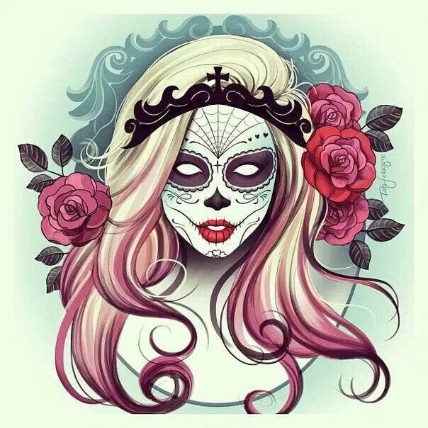 day of the dead designs creative tattoos pinterest. Black Bedroom Furniture Sets. Home Design Ideas